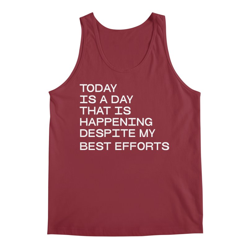 TODAY IS A DAY (wht) Men's Regular Tank by VOID MERCH