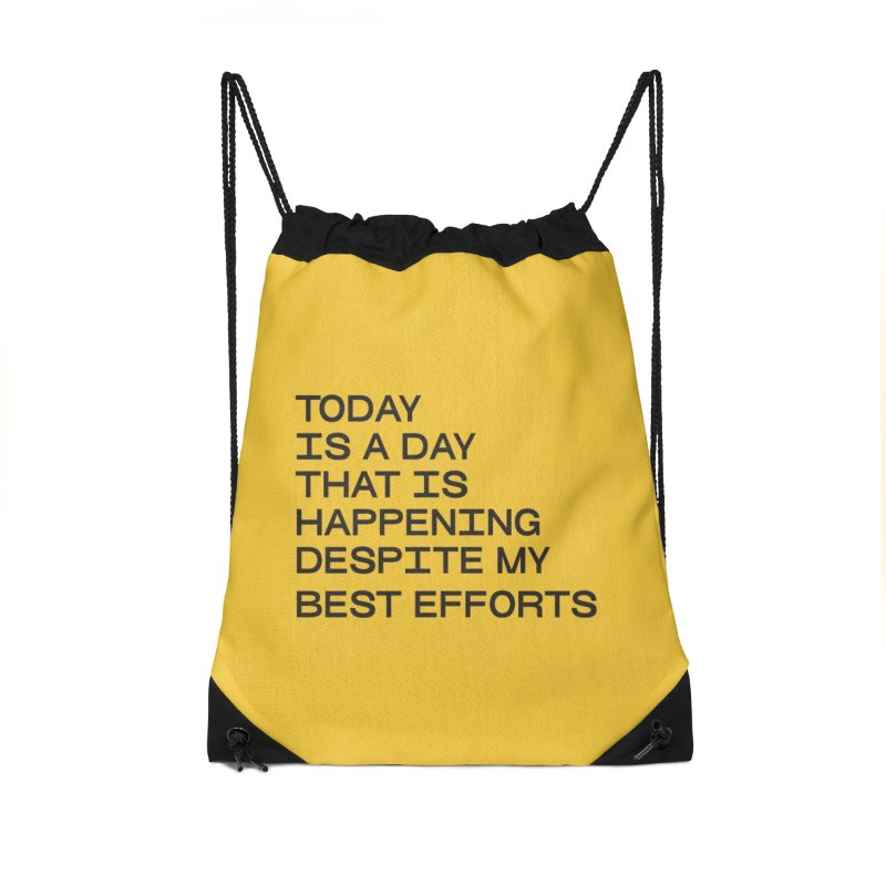 TODAY IS A DAY (blk) Accessories Drawstring Bag Bag by VOID MERCH