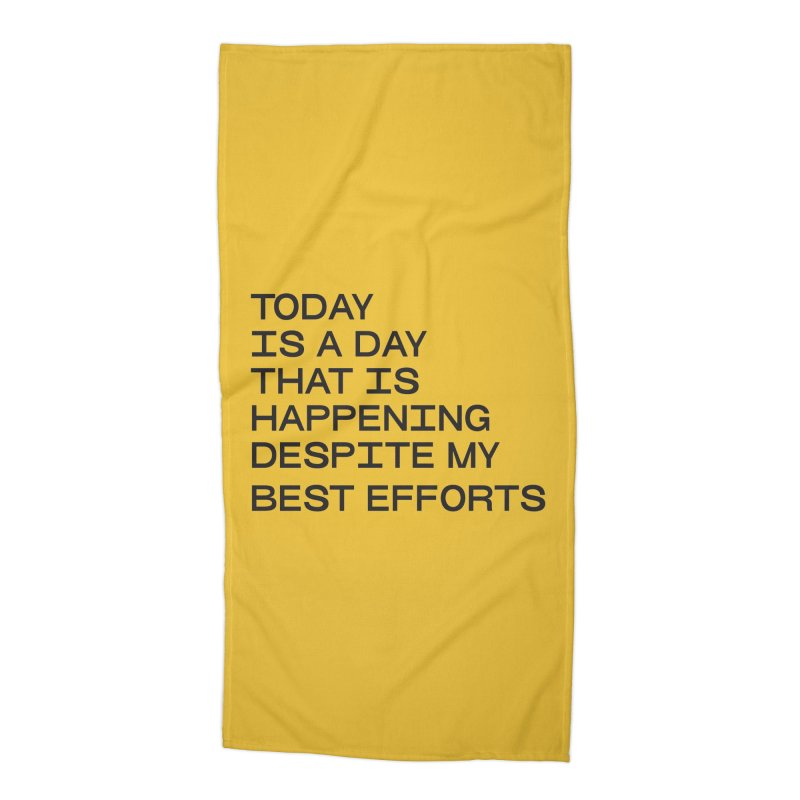 TODAY IS A DAY (blk) Accessories Beach Towel by VOID MERCH
