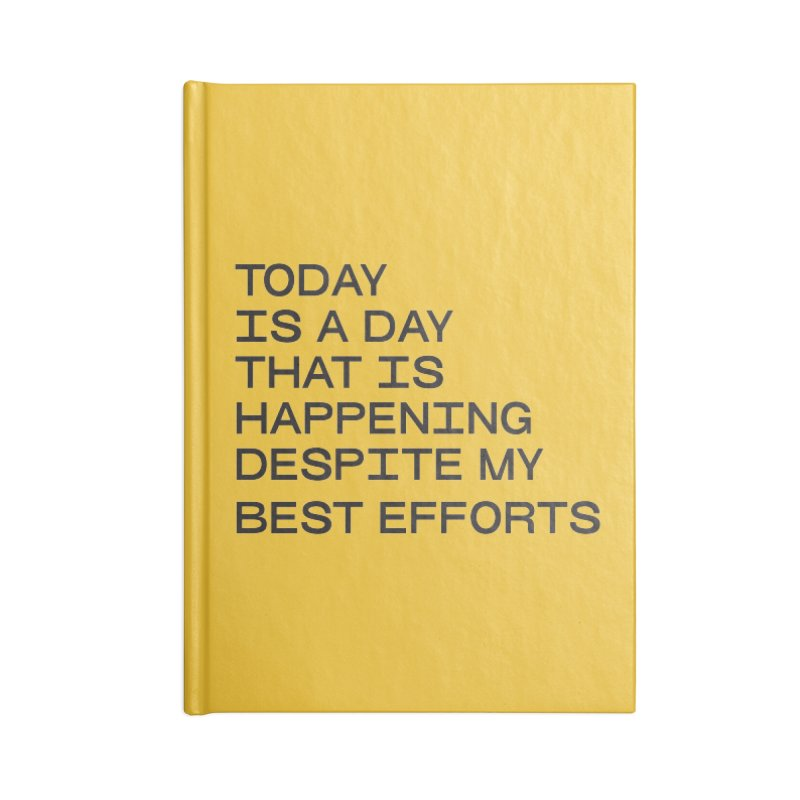 TODAY IS A DAY (blk) Accessories Blank Journal Notebook by VOID MERCH