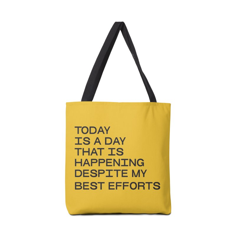 TODAY IS A DAY (blk) Accessories Tote Bag Bag by VOID MERCH