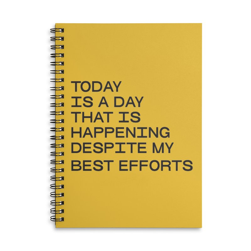 TODAY IS A DAY (blk) Accessories Lined Spiral Notebook by VOID MERCH