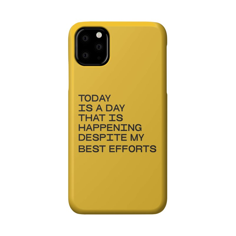 TODAY IS A DAY (blk) Accessories Phone Case by VOID MERCH
