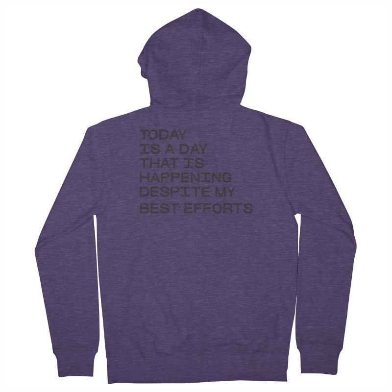 TODAY IS A DAY (blk) Men's French Terry Zip-Up Hoody by VOID MERCH