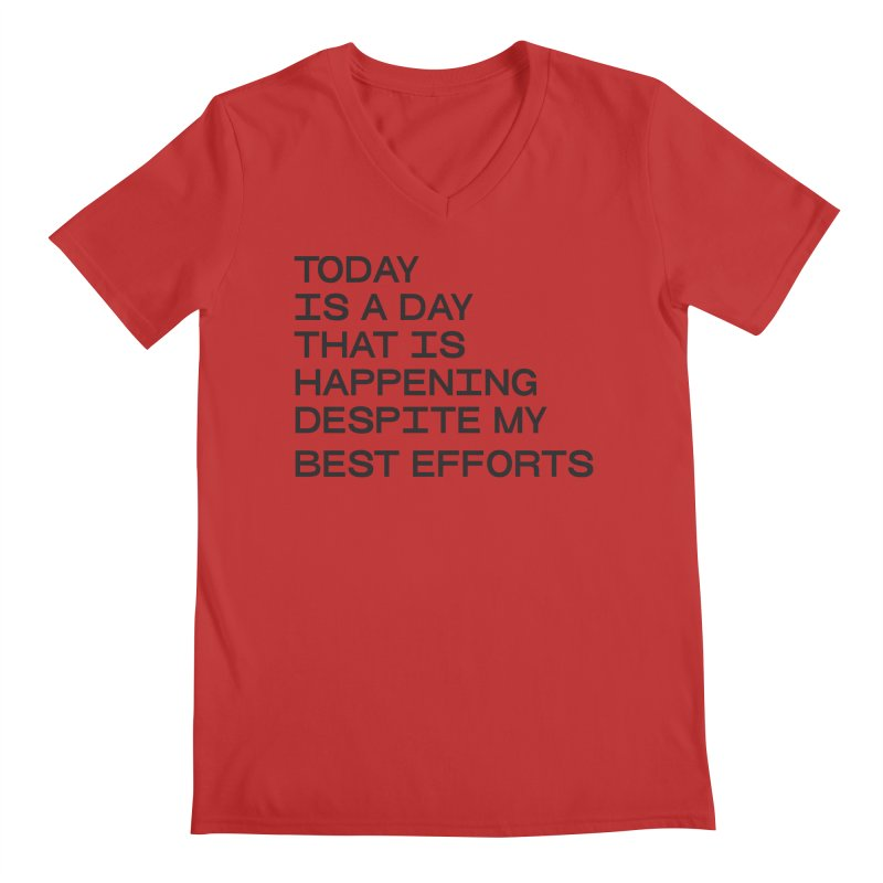 TODAY IS A DAY (blk) Men's Regular V-Neck by VOID MERCH