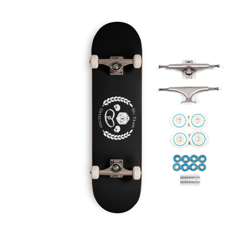 NO TRAPS DETECTED (wht) Accessories Complete - Basic Skateboard by VOID MERCH