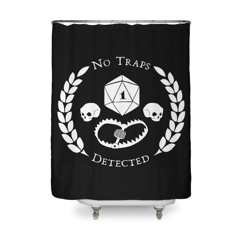 NO TRAPS DETECTED (wht) Home Shower Curtain by VOID MERCH