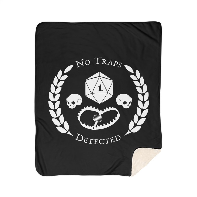 NO TRAPS DETECTED (wht) Home Sherpa Blanket Blanket by VOID MERCH