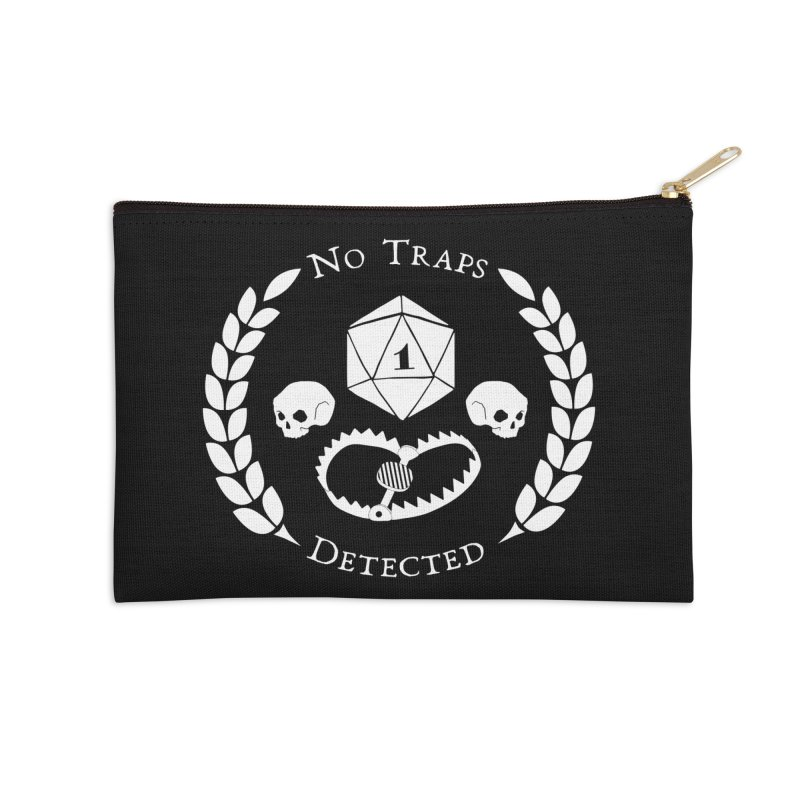 NO TRAPS DETECTED (wht) Accessories Zip Pouch by VOID MERCH