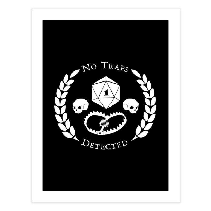 NO TRAPS DETECTED (wht) Home Fine Art Print by VOID MERCH