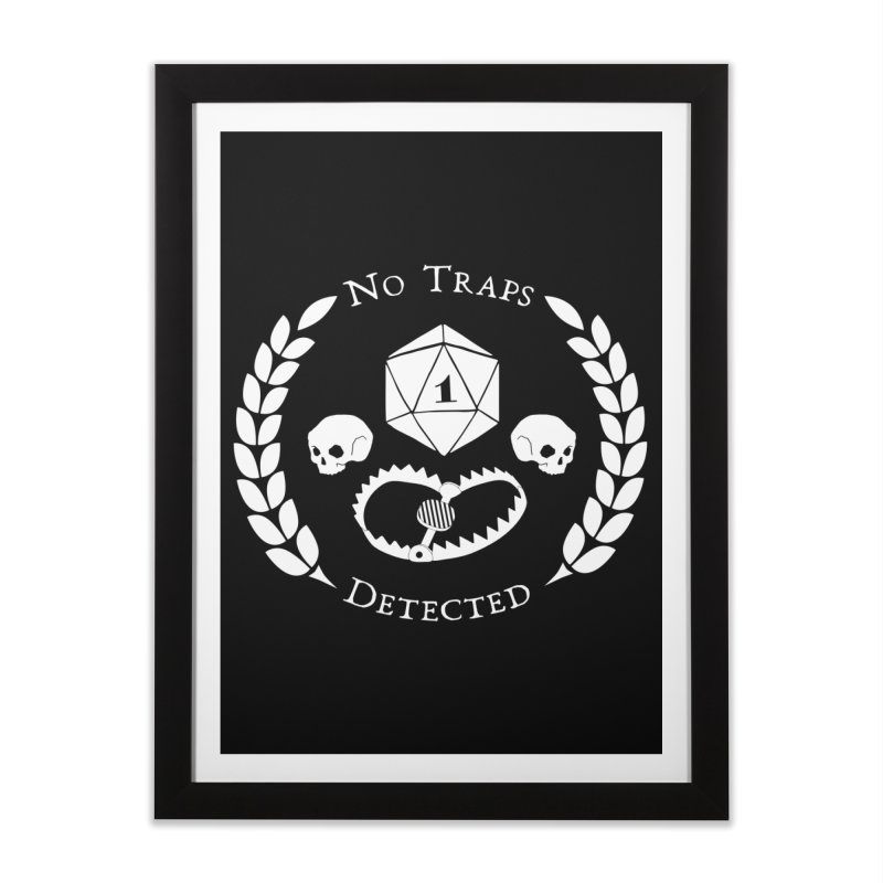 NO TRAPS DETECTED (wht) Home Framed Fine Art Print by VOID MERCH
