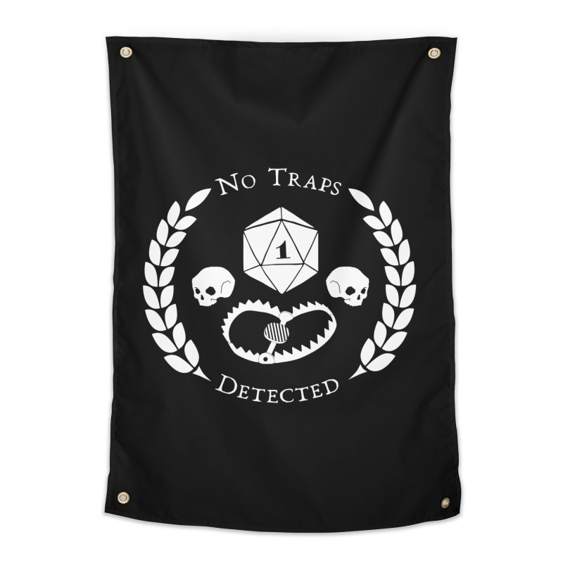 NO TRAPS DETECTED (wht) Home Tapestry by VOID MERCH