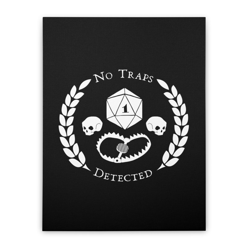 NO TRAPS DETECTED (wht) Home Stretched Canvas by VOID MERCH