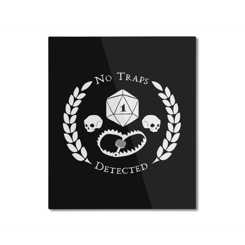 NO TRAPS DETECTED (wht) Home Mounted Aluminum Print by VOID MERCH