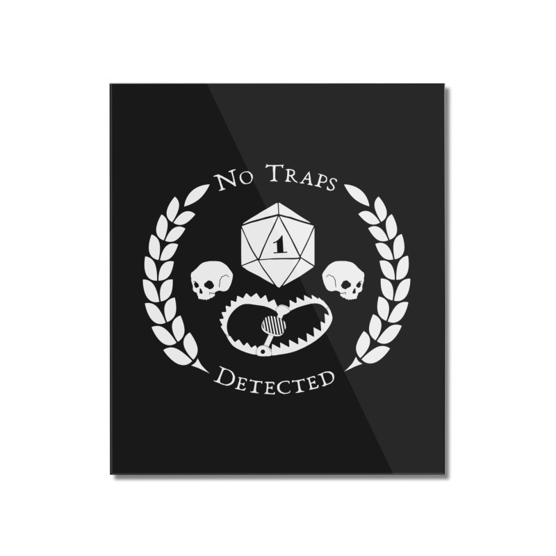 NO TRAPS DETECTED (wht) Home Mounted Acrylic Print by VOID MERCH
