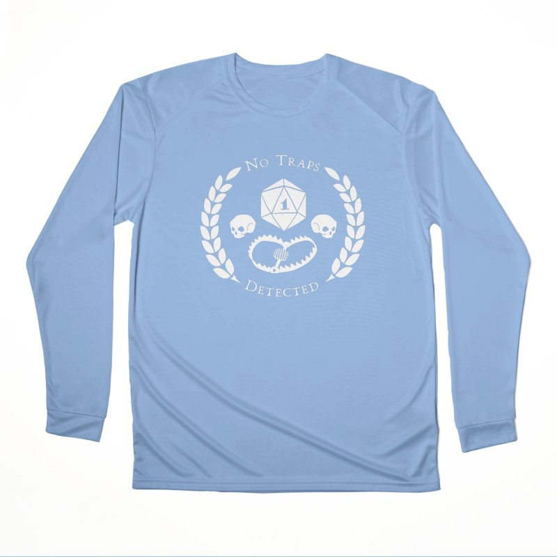 NO TRAPS DETECTED (wht) Men's Performance Longsleeve T-Shirt by VOID MERCH