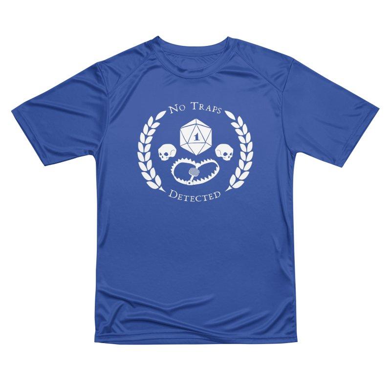 NO TRAPS DETECTED (wht) Women's Performance Unisex T-Shirt by VOID MERCH