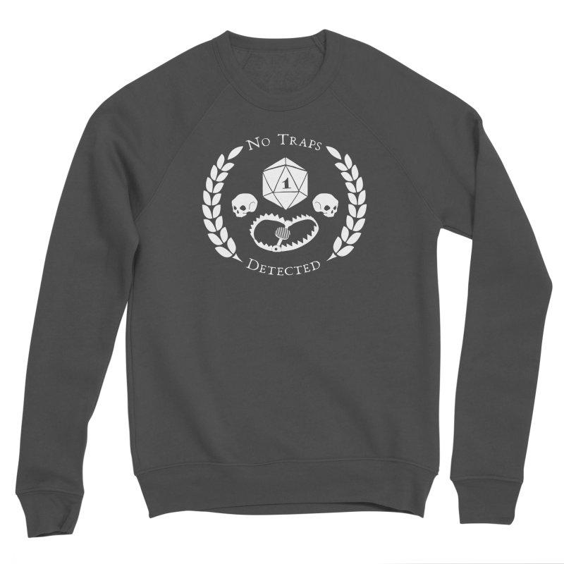 NO TRAPS DETECTED (wht) Women's Sponge Fleece Sweatshirt by VOID MERCH