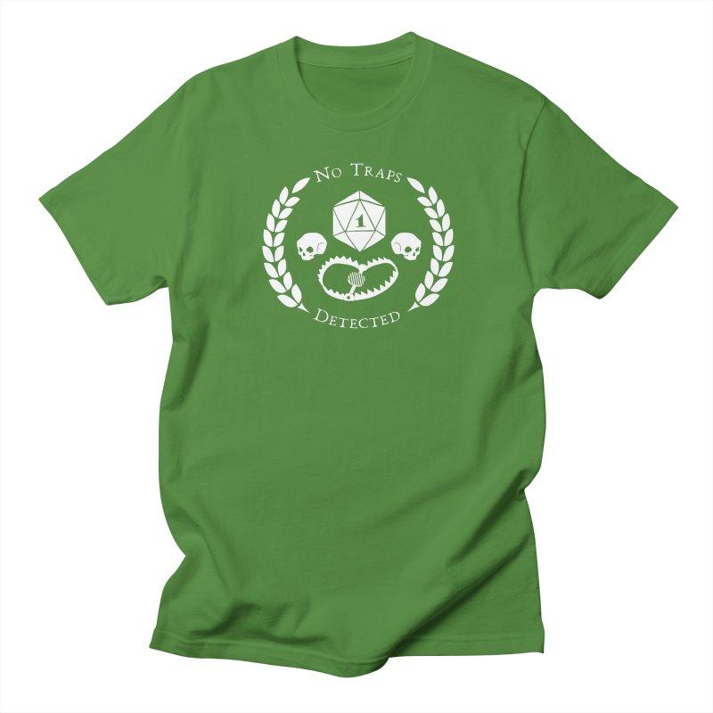 NO TRAPS DETECTED (wht) Women's Regular Unisex T-Shirt by VOID MERCH