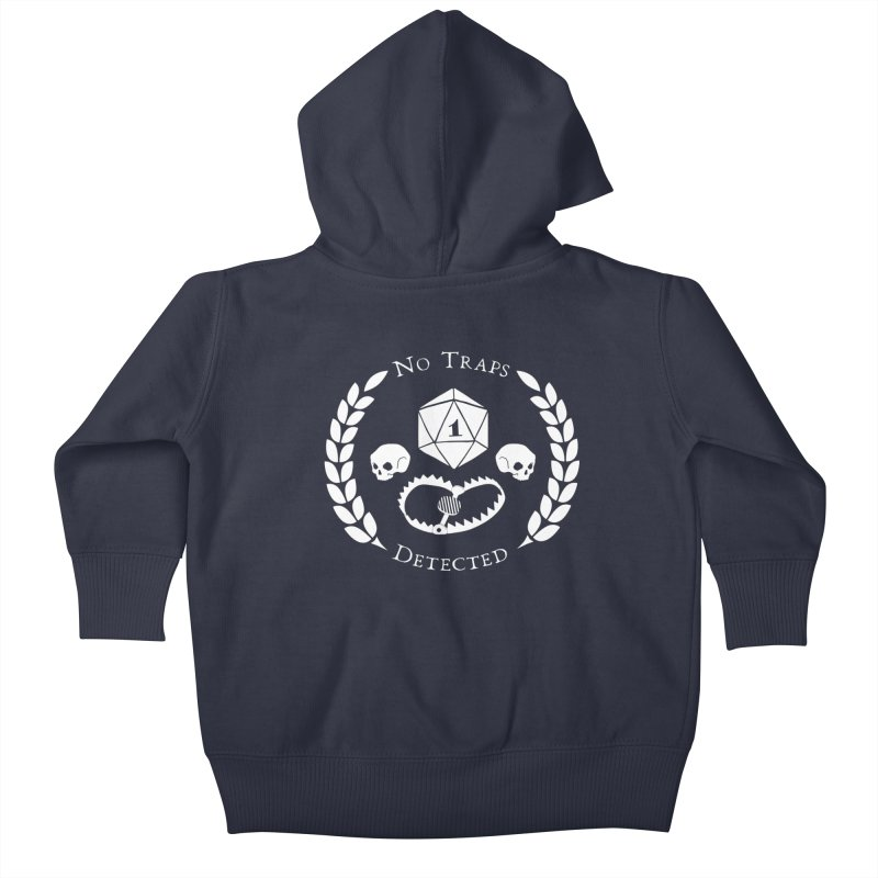 NO TRAPS DETECTED (wht) Kids Baby Zip-Up Hoody by VOID MERCH