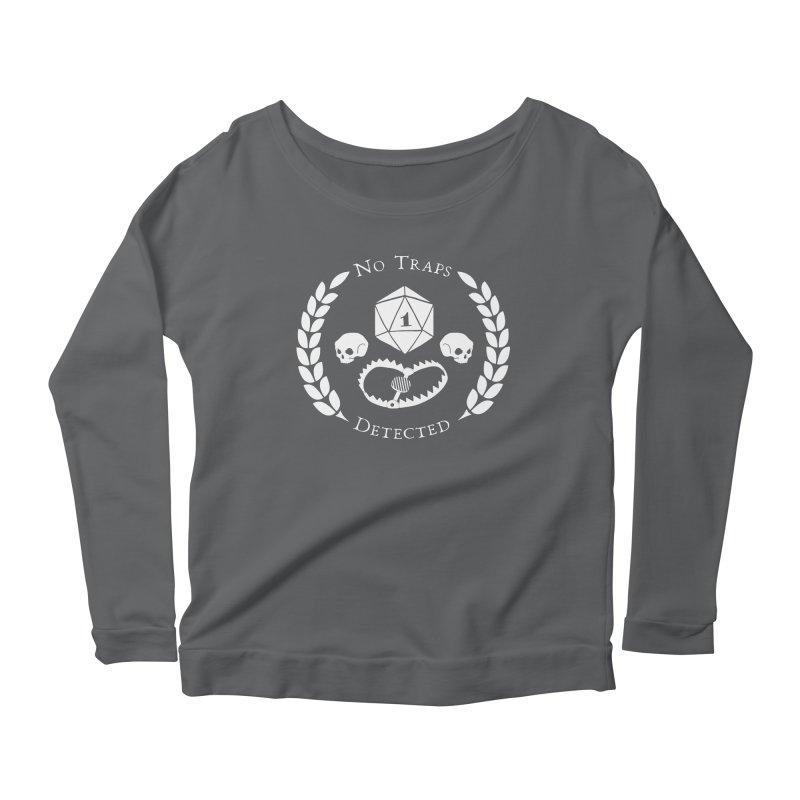 NO TRAPS DETECTED (wht) Women's Scoop Neck Longsleeve T-Shirt by VOID MERCH