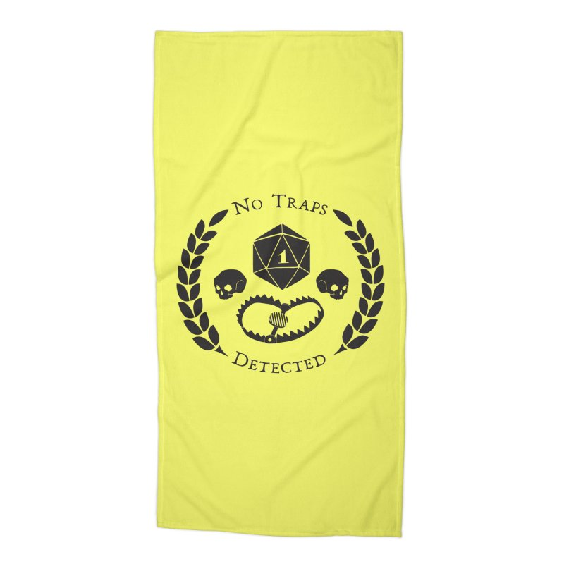 No Traps Detected! (blk) Accessories Beach Towel by VOID MERCH