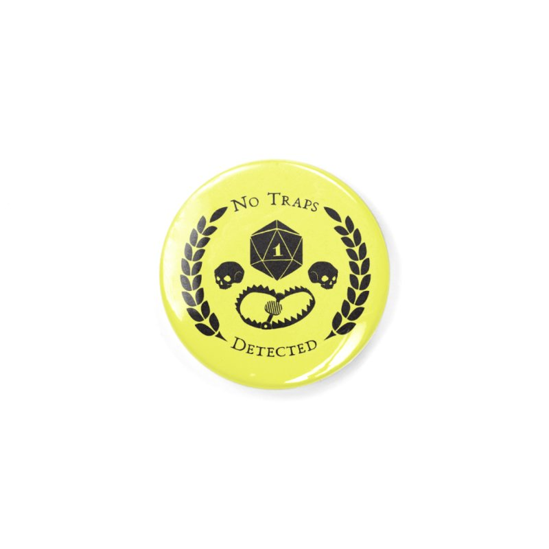 No Traps Detected! (blk) Accessories Button by VOID MERCH