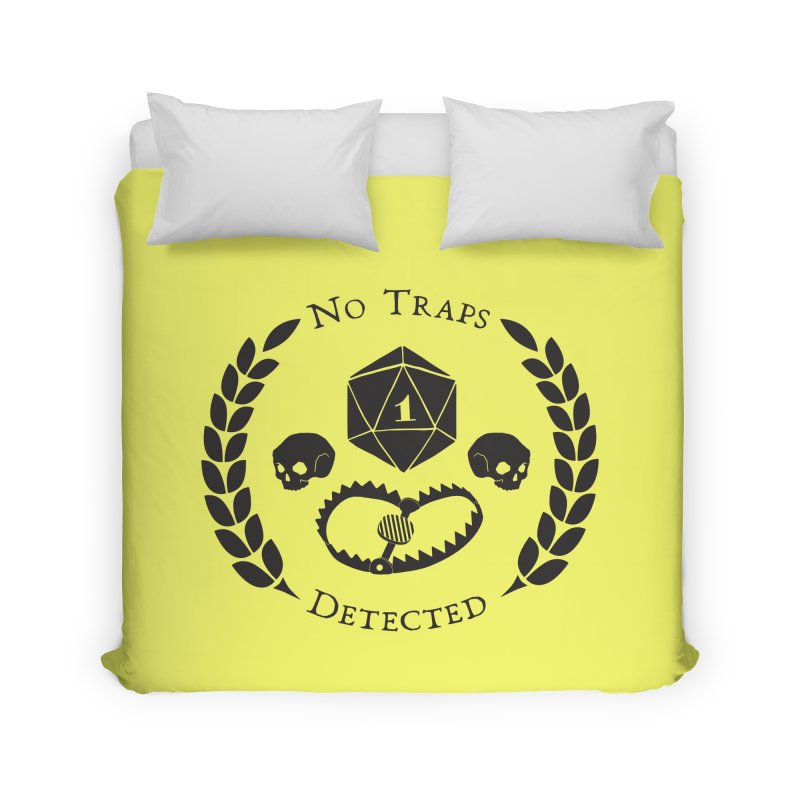 No Traps Detected! (blk) Home Duvet by VOID MERCH