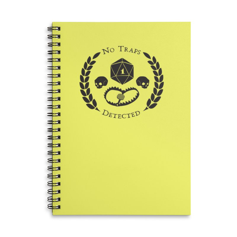 No Traps Detected! (blk) Accessories Lined Spiral Notebook by VOID MERCH