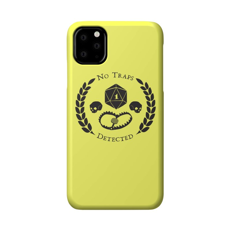 No Traps Detected! (blk) Accessories Phone Case by VOID MERCH