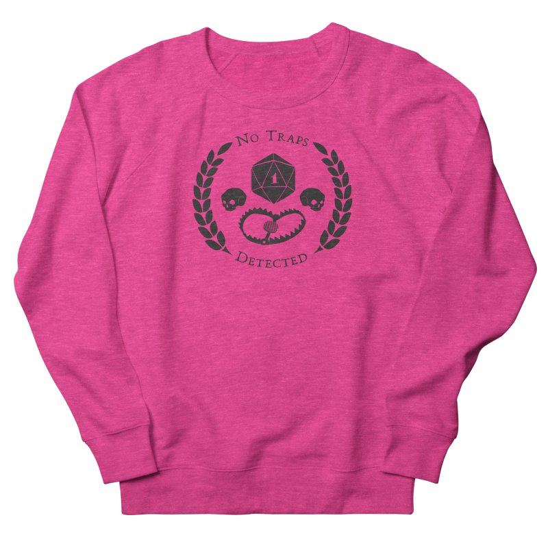 No Traps Detected! (blk) Women's French Terry Sweatshirt by VOID MERCH