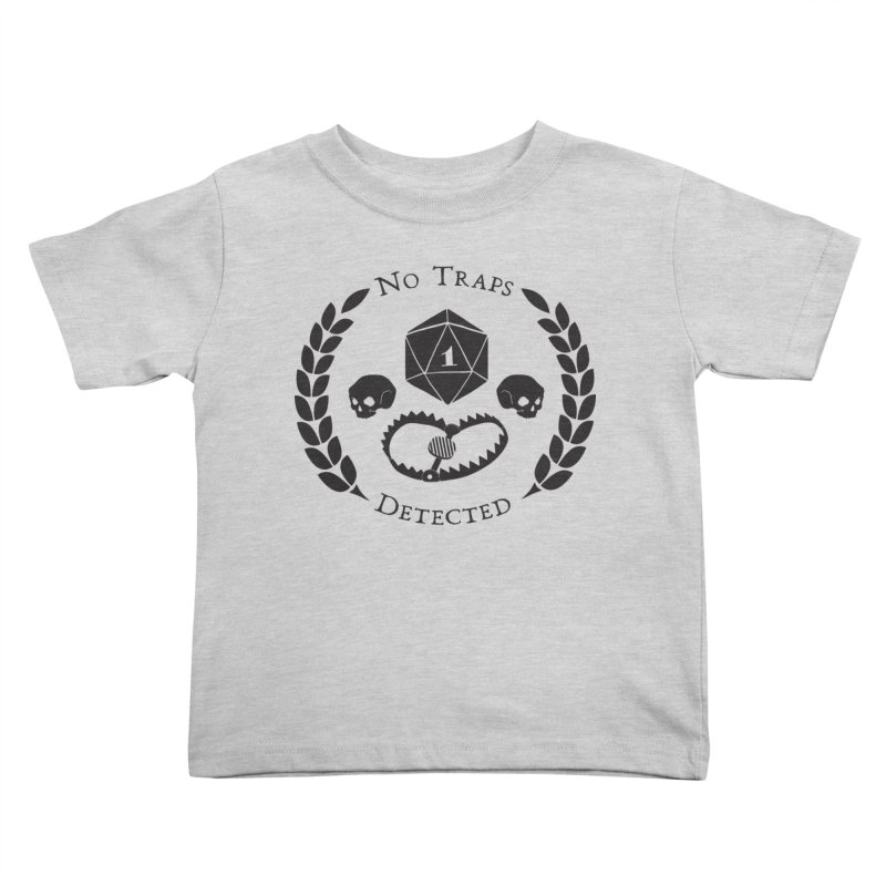 No Traps Detected! (blk) Kids Toddler T-Shirt by VOID MERCH