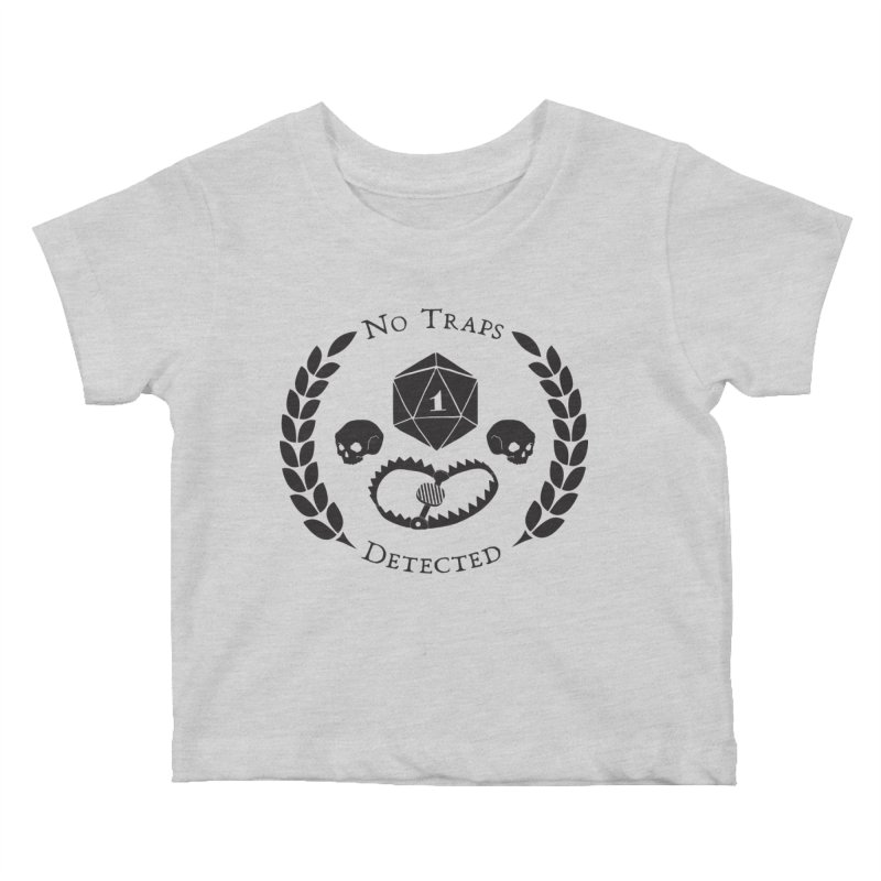No Traps Detected! (blk) Kids Baby T-Shirt by VOID MERCH