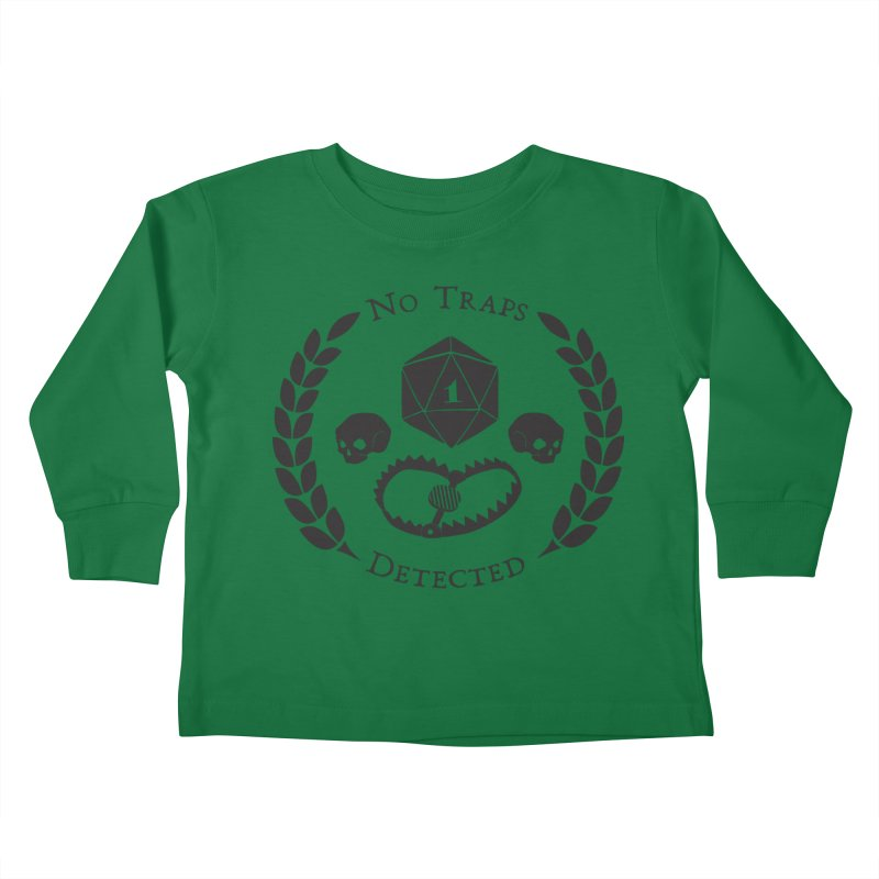 No Traps Detected! (blk) Kids Toddler Longsleeve T-Shirt by VOID MERCH