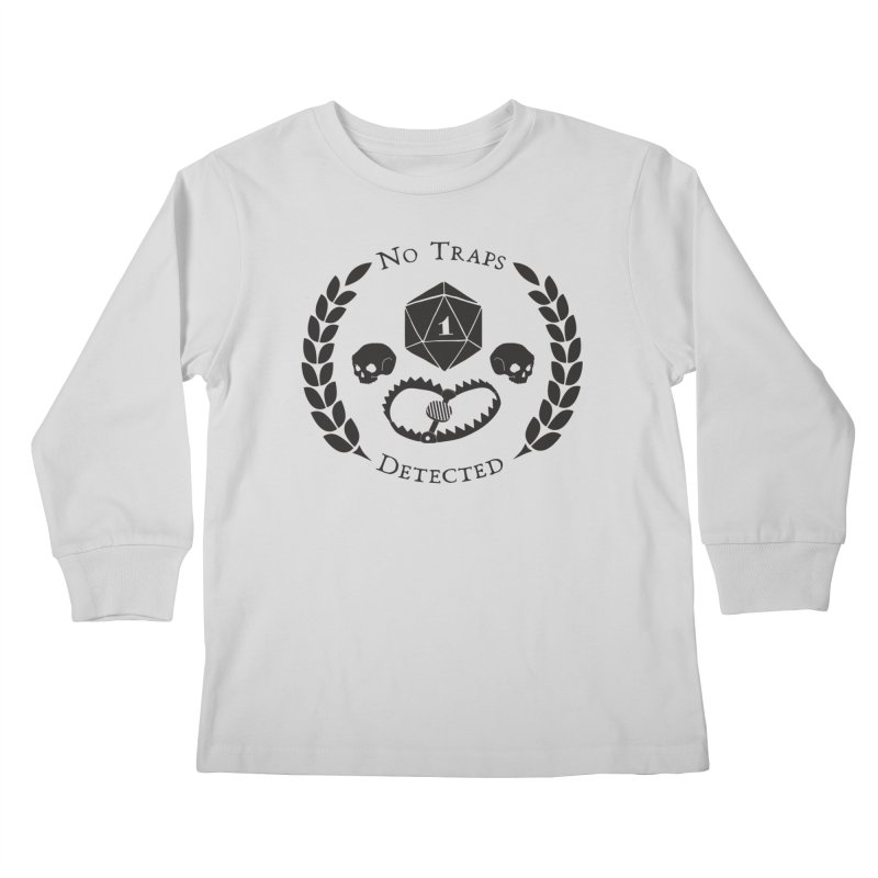 No Traps Detected! (blk) Kids Longsleeve T-Shirt by VOID MERCH