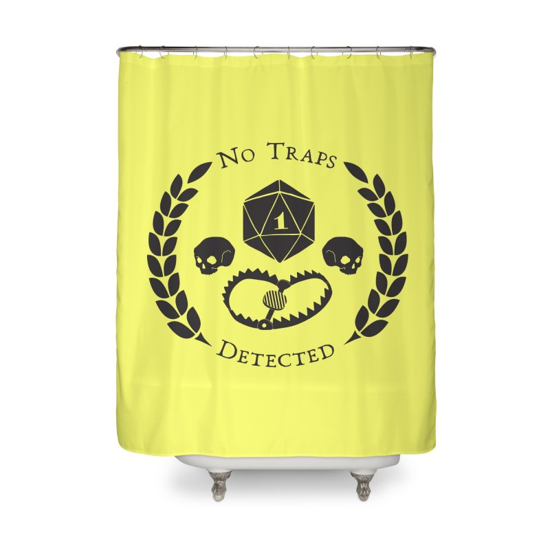 No Traps Detected! (blk) Home Shower Curtain by VOID MERCH