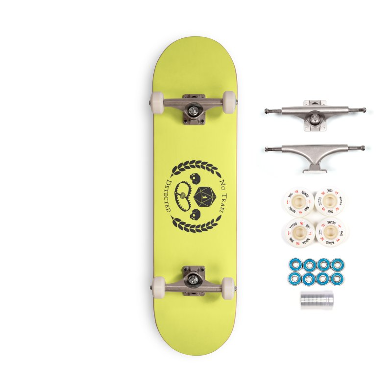 No Traps Detected! (blk) Accessories Complete - Premium Skateboard by VOID MERCH