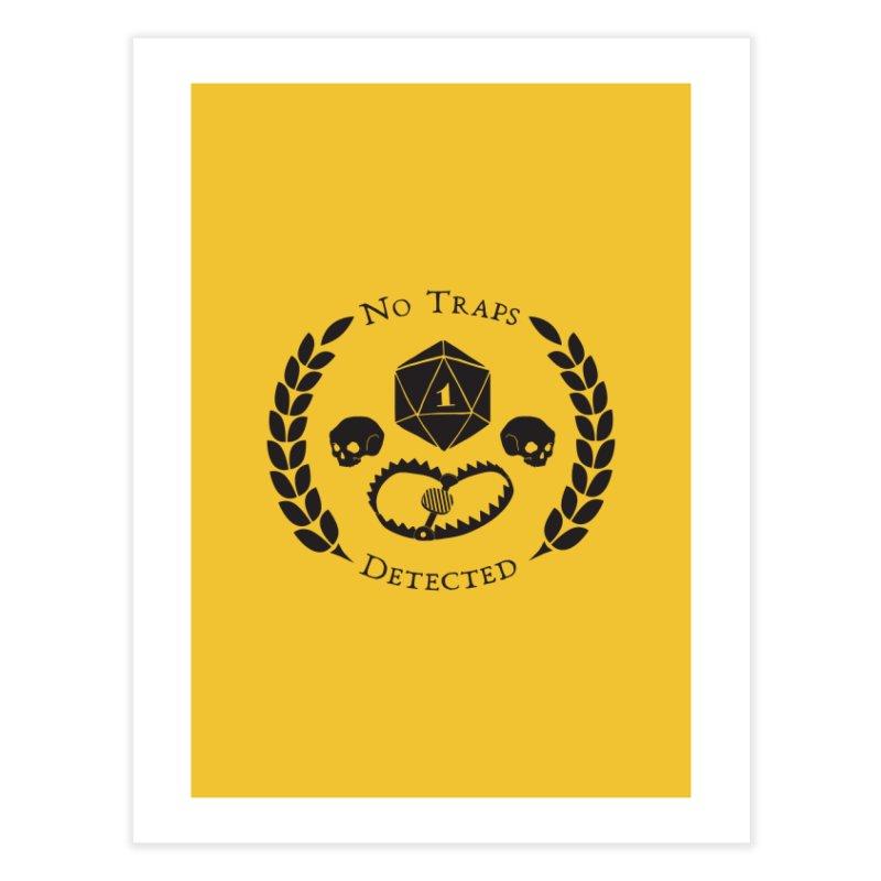 No Traps Detected! (blk) Home Fine Art Print by VOID MERCH