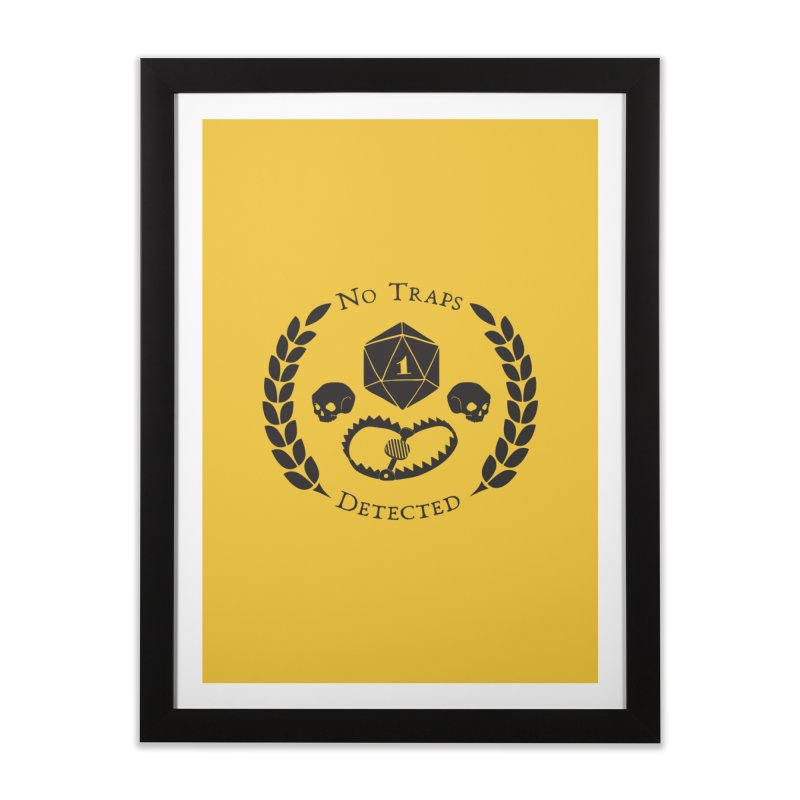 No Traps Detected! (blk) Home Framed Fine Art Print by VOID MERCH