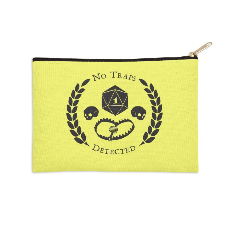 No Traps Detected! (blk) Accessories Zip Pouch by VOID MERCH