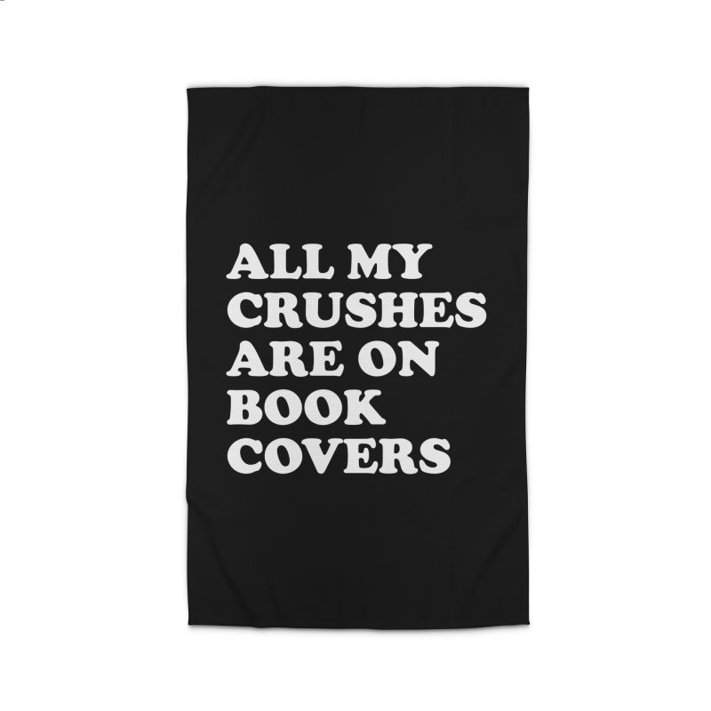 All my crushes are on book covers (Cooper wht) Home Rug by VOID MERCH