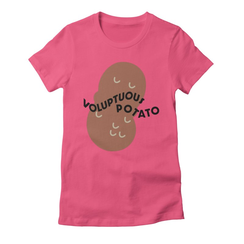 VOLUPTUOUS POTATO (Lavin x Voidmerch) Women's Fitted T-Shirt by VOID MERCH