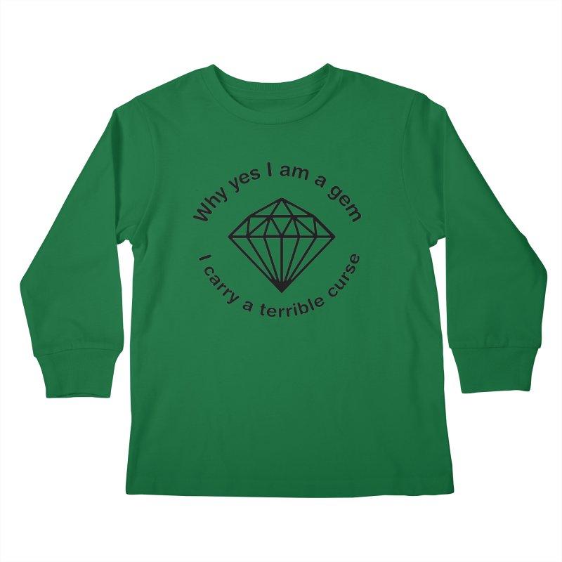 I AM A FUCKING GEM (Lavin x Voidmerch) Kids Longsleeve T-Shirt by VOID MERCH