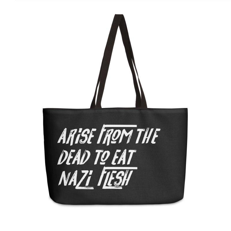 EAT NAZI FLESH Accessories Weekender Bag Bag by VOID MERCH