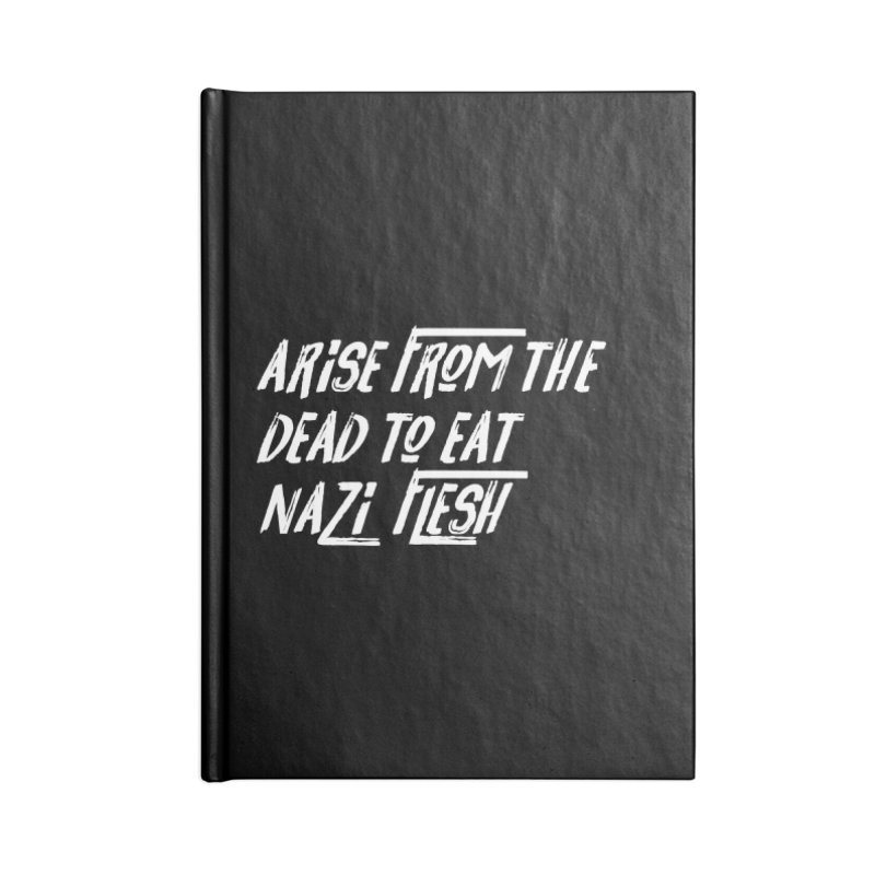 EAT NAZI FLESH Accessories Blank Journal Notebook by VOID MERCH