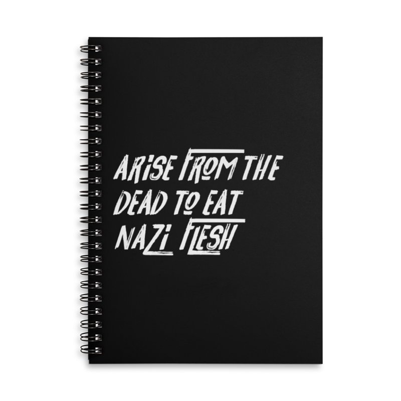 EAT NAZI FLESH Accessories Lined Spiral Notebook by VOID MERCH