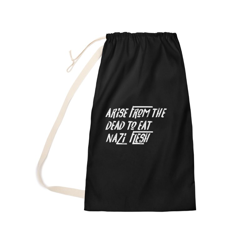 EAT NAZI FLESH Accessories Laundry Bag Bag by VOID MERCH