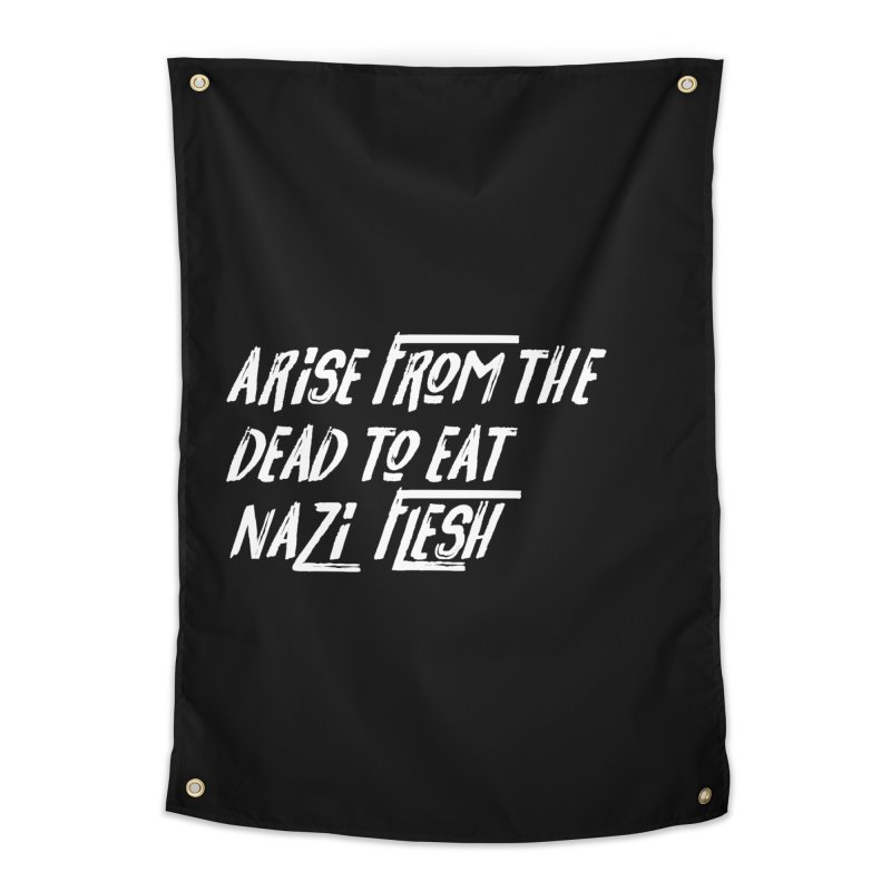 EAT NAZI FLESH Home Tapestry by VOID MERCH