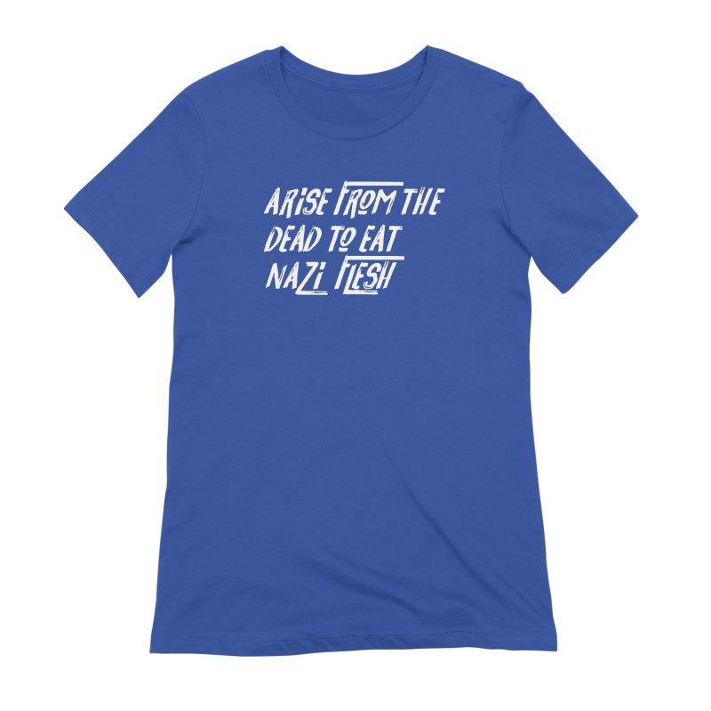 EAT NAZI FLESH Women's Extra Soft T-Shirt by VOID MERCH