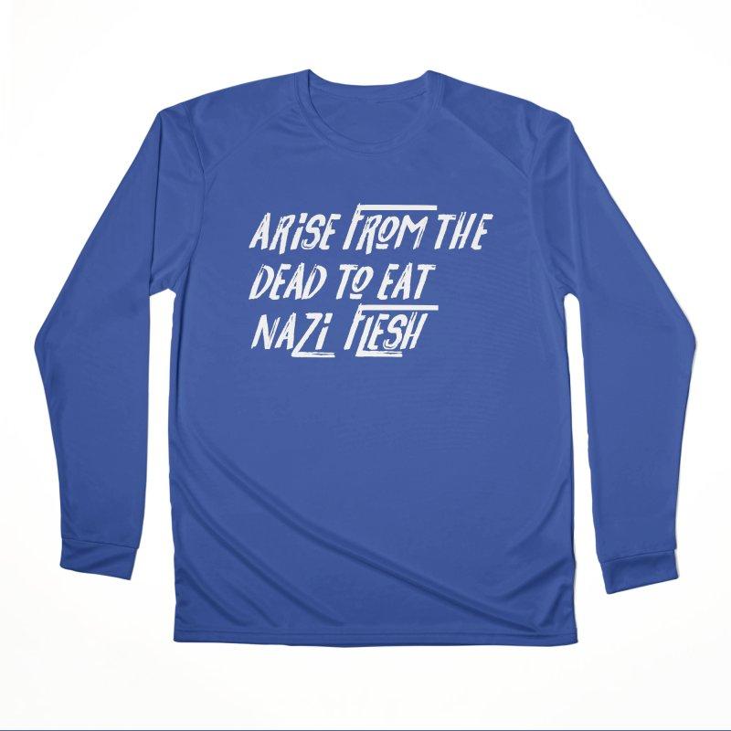 EAT NAZI FLESH Men's Performance Longsleeve T-Shirt by VOID MERCH